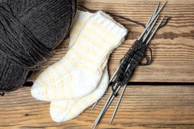 носки из детской пряжи